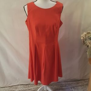 AGB orange sleeveless dress sz14
